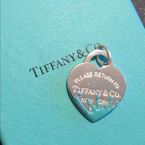 Tiffany and CO silver RTT splash blue charm